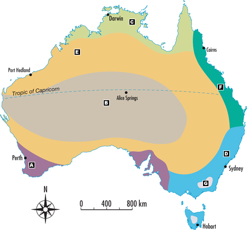 Australia Map Landforms.Australian Landscapes